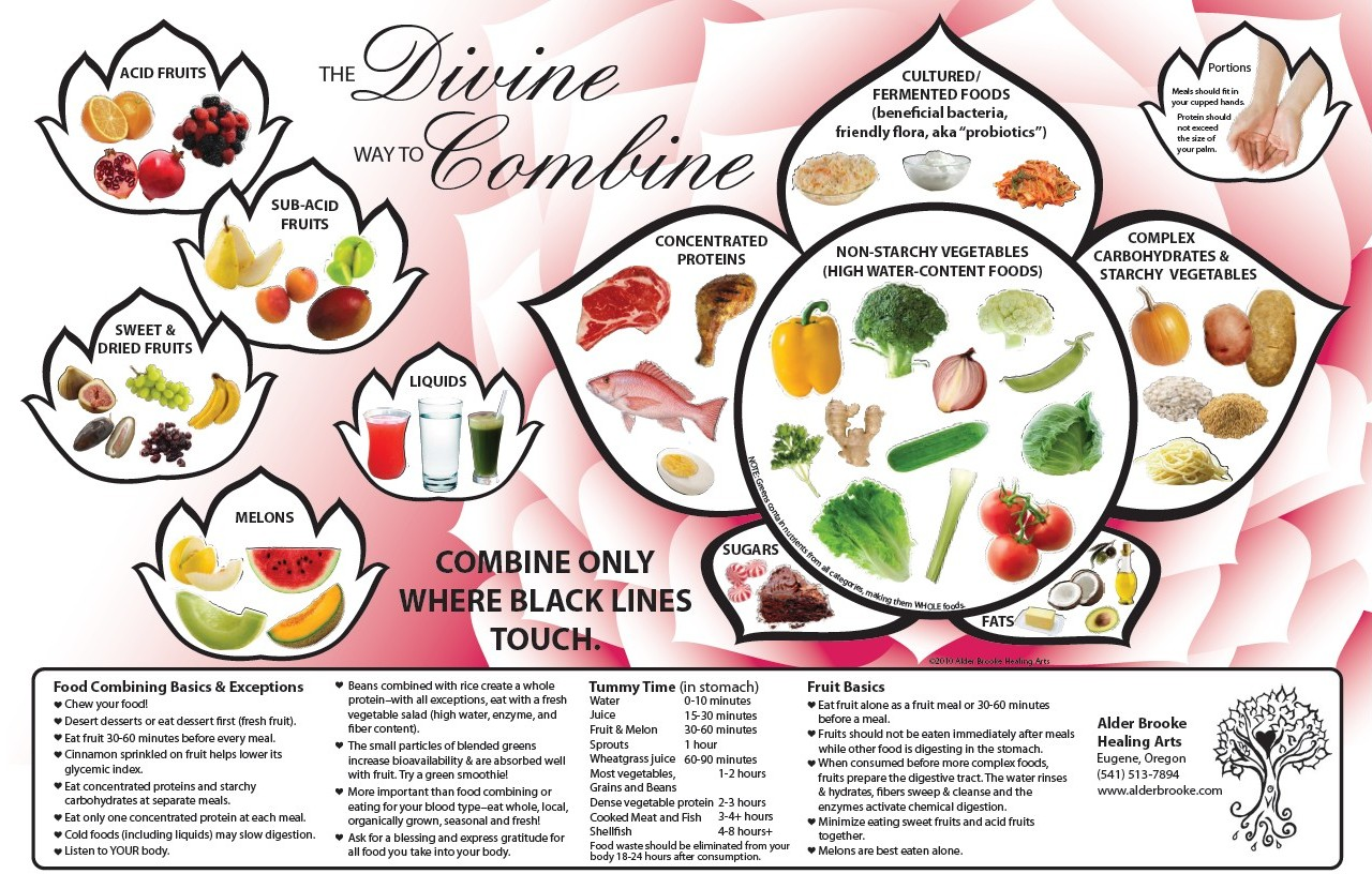 graphic relating to Food Combining Chart Printable called Foods Combining Simple Reference Charts